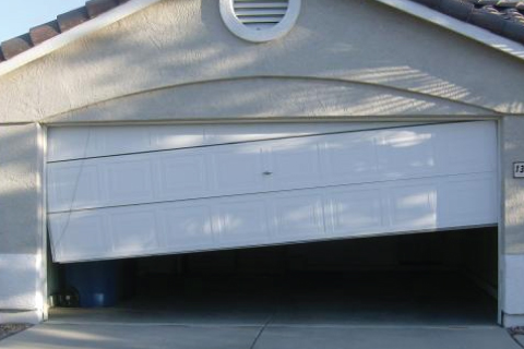 Tilted Garage Door